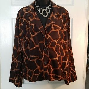 Safari Print Button Up Jacket by Requirements